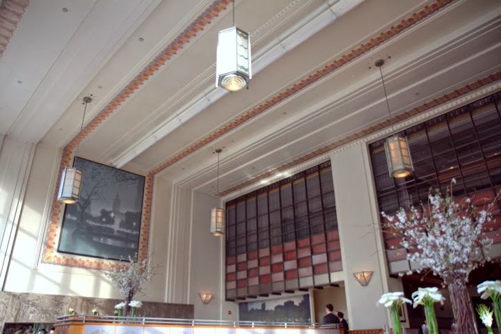 Eleven Madison Park's iconic, lofty dining room