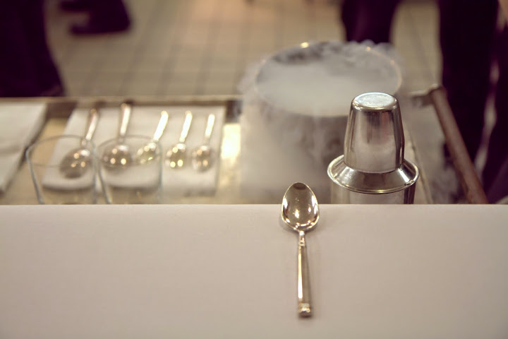 Our own private tableside liquid nitrogen Penicillin cocktail in the kitchen of EMP (see photos below)
