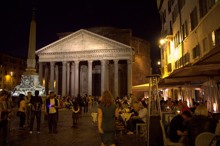 The otherworldly Pantheon at night