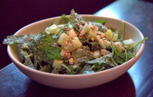 Even the baby kale salad ($12) is better than average dotted with feta and pistachio