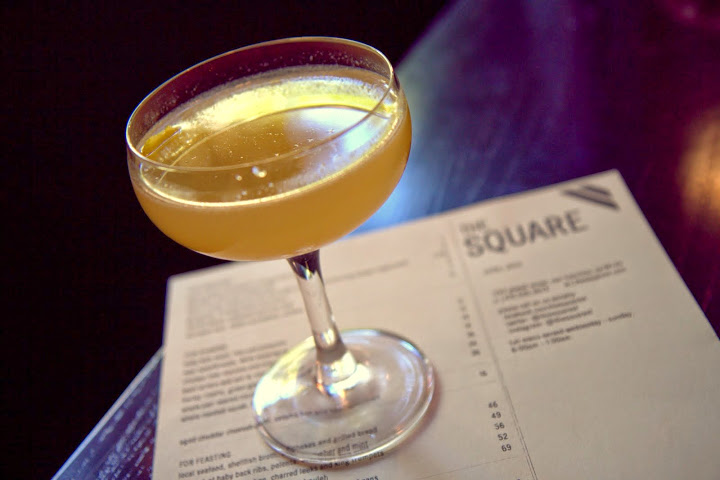 One of my favorites on the menu: the Appletini redeemed with Calvados (French apple brandy), Leopold's Sour Apple liqueur, lemon, and a splash of St. George Absinthe