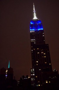 Empire State Building from my Ace Hotel room at night