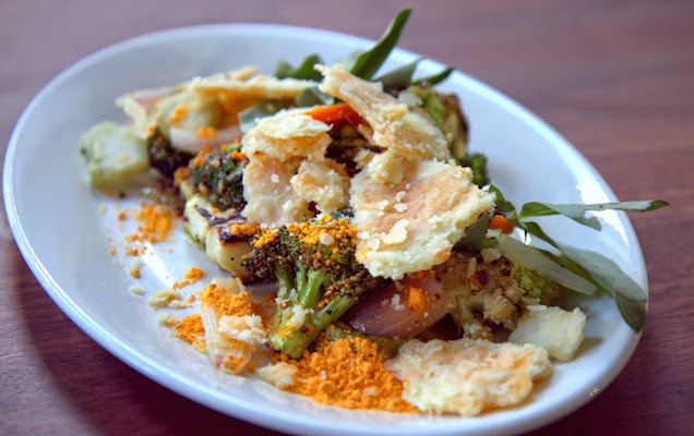Broccoli and cheese re-imagined at The Tradesman in the Mission