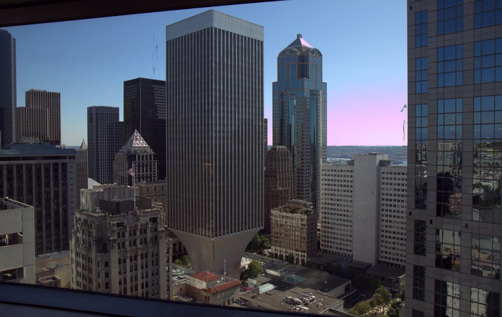 View from my hotel room at the Sheraton Seattle