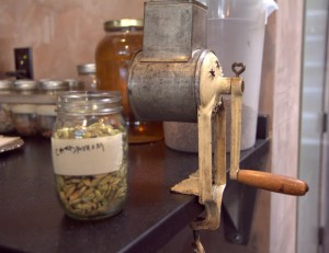 Hand-cranked cardamom goes into orange bitters