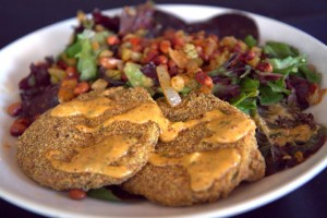 Kingfish's fried green tomatoes & Hoppin' John