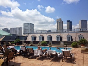Rooftop pool at the centrally-located Omni Royal Hotel