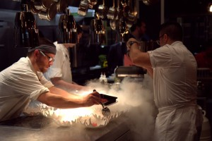 Liquid nitrogen dish at Square Root in New Orleans