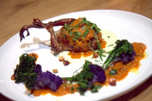 Squab tikka masala at Farmer & The Fox, St. Helena