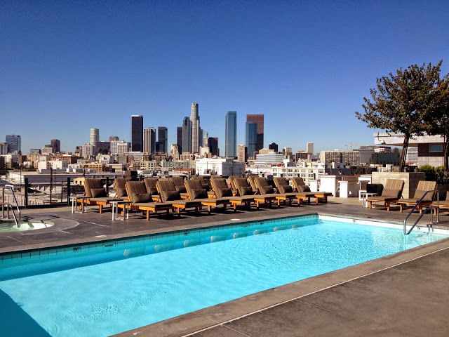 View of Downtown LA from my recent AirBnB loft rental rooftop