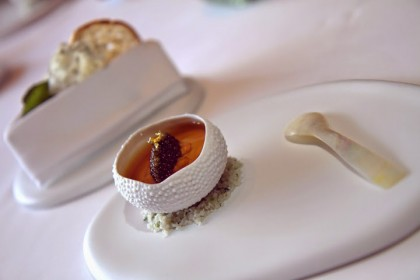 Caviar goodness at Amber in Hong Kong