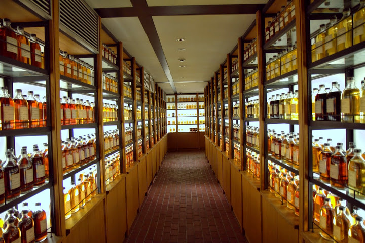 Yamazaki's extensive whisk(e)y library