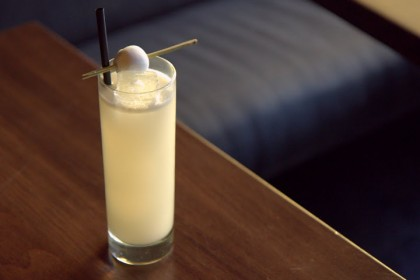 Yuzu Calpico Fizz at Bar Goto