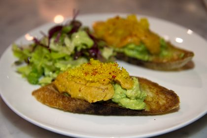 Seaside Metal Oyster Bar's sea urchin toast