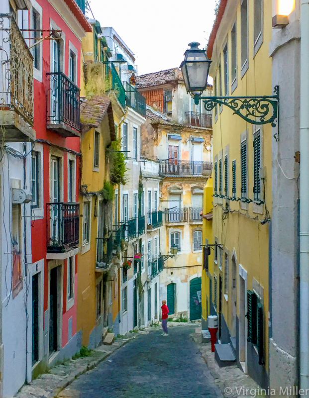 Iconic & unforgettable... just a random Lisbon street I wandered down to near the river