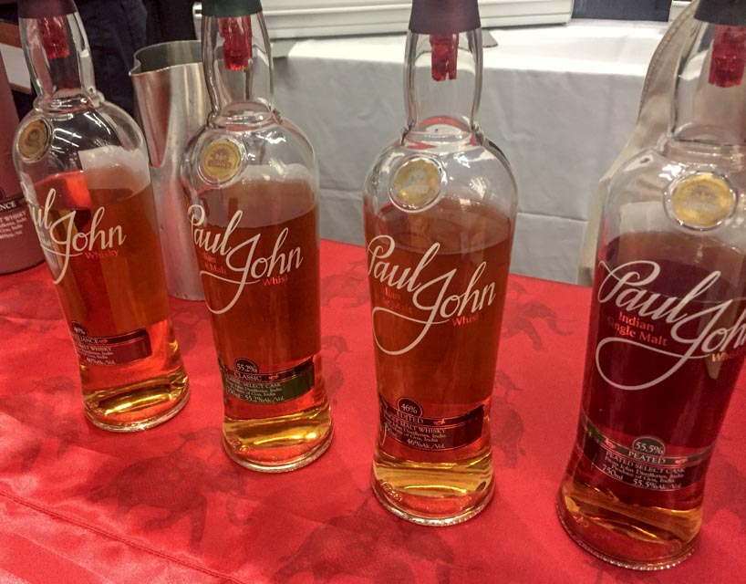 Paul John whiskies just imported from Goa, India
