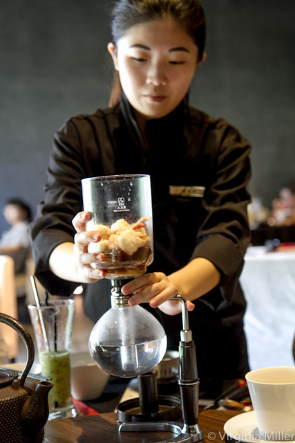 Soup steeping at Wein restaurant in Taichung